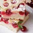 Cherry sponge slice — Foto Stock