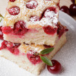 Cherry sponge slice — Stockfoto