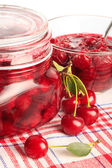 Cerry jam — Stock Photo