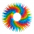 Origami rainbow 3d — Stock Photo