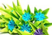 Origami bunch — Stock Photo