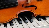 Violino e pianoforte — Foto Stock
