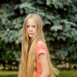 Long-hair blonde girl - Stock Photo