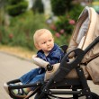 Stock Photo: Toddler in baby carriage