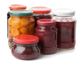 Various jams and compotes — Stock Photo