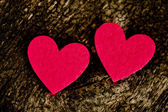 Red hearts stickers — Stock Photo