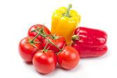 Fresh sweet pepper, tomato — Stock Photo