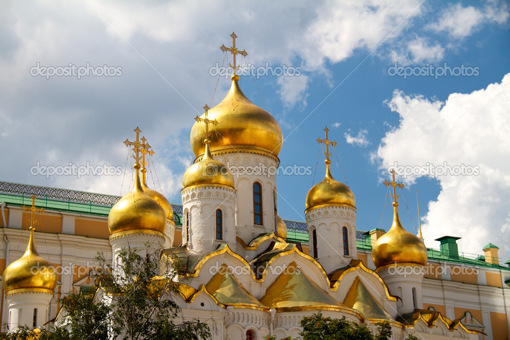 The Cathedral of the Annunciation in Kremlin, Moscow, Russia — Stock Photo #6268725