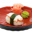 Japan traditional food - sushi — Stock Photo