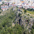 Alanya city hill, sea coast, Turkey — Stock Photo #6333606