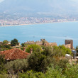 Alanya city hill, sea coast, Turkey — Stock Photo #6333974