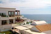 Beautiful hotel near the sea in Greece — Stock Photo