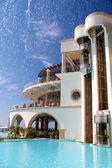 Swimming pool at luxury villa, Rhodes Greece — Stock Photo
