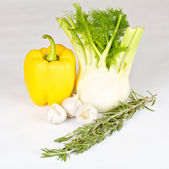 Fennel with garlik, pepper and rosemary — Stock Photo