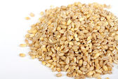 Pile of Pearl Barley isolated on white — Stock Photo