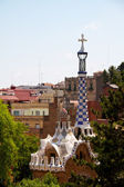 BARCELONA, SPAIN -May 27: The famous Park Guell on May 27, 2011 — Stock Photo