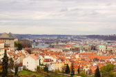 The View on the Prague's gothic Castle and Buildings — Stock Photo