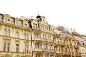 Famous spa resort Karlovy Vary aka Karlsbad — Stock Photo