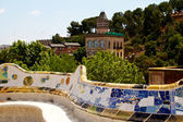 BARCELONA - May 27: The surreal Parc Guell by Antoni Gaudi, one — Stock Photo