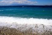 пляж на острове самос, греция — Стоковое фото