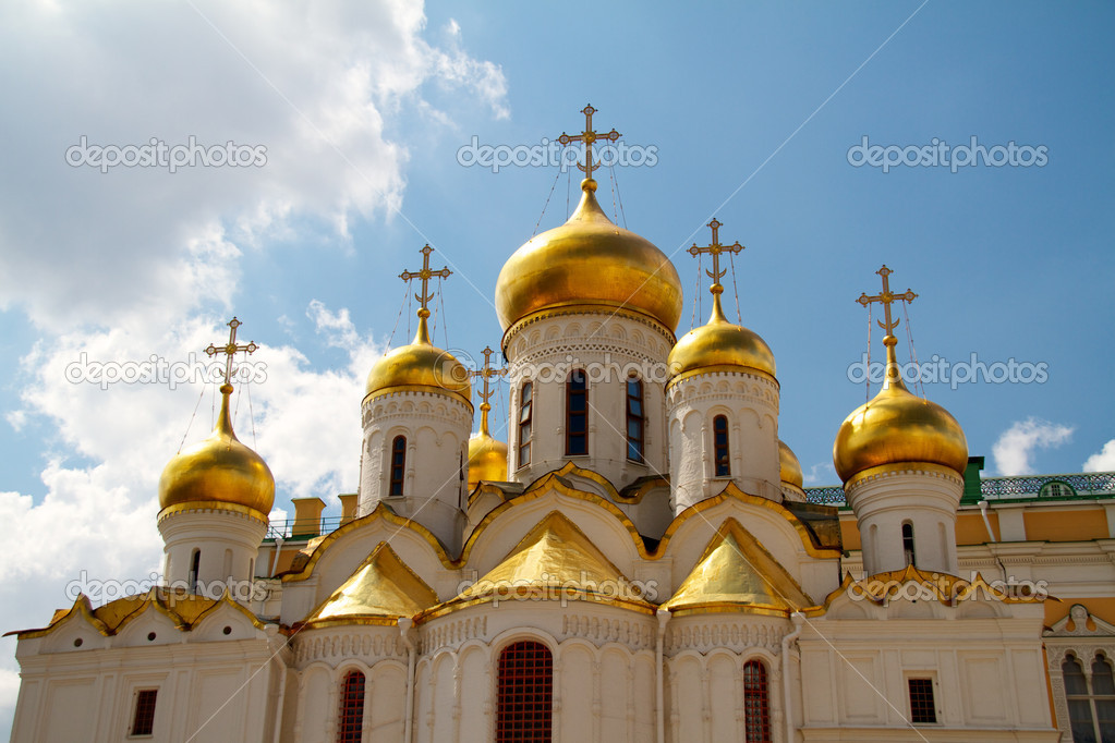The Cathedral of the Annunciation in Kremlin, Moscow, Russia  Stock Photo #6331056