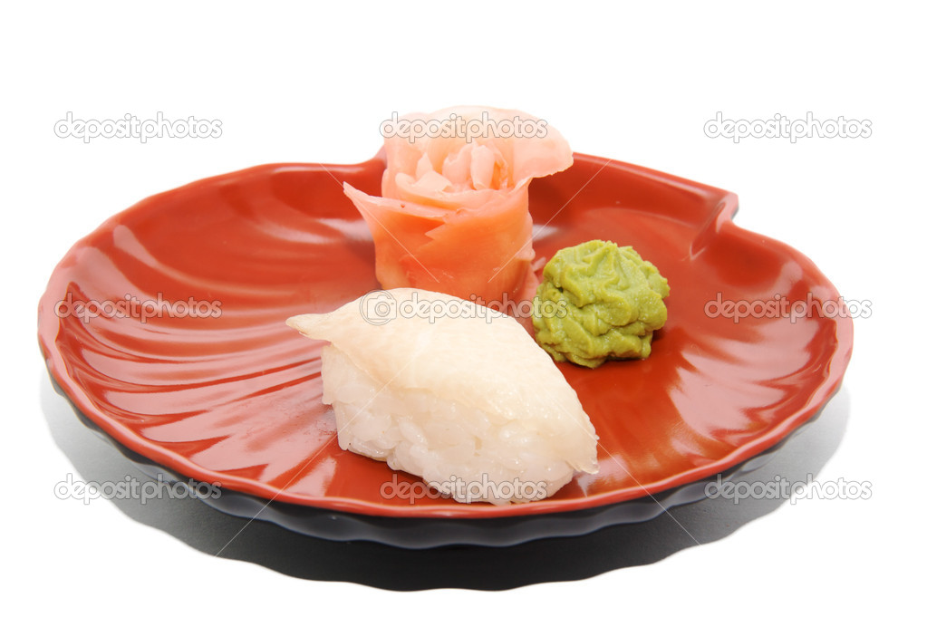 Japan traditional food - sushi isolated — Stock Photo #6332701