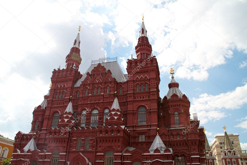 Historical Museum on the Red Square, Moscow, Russia — Stock Photo #6336698