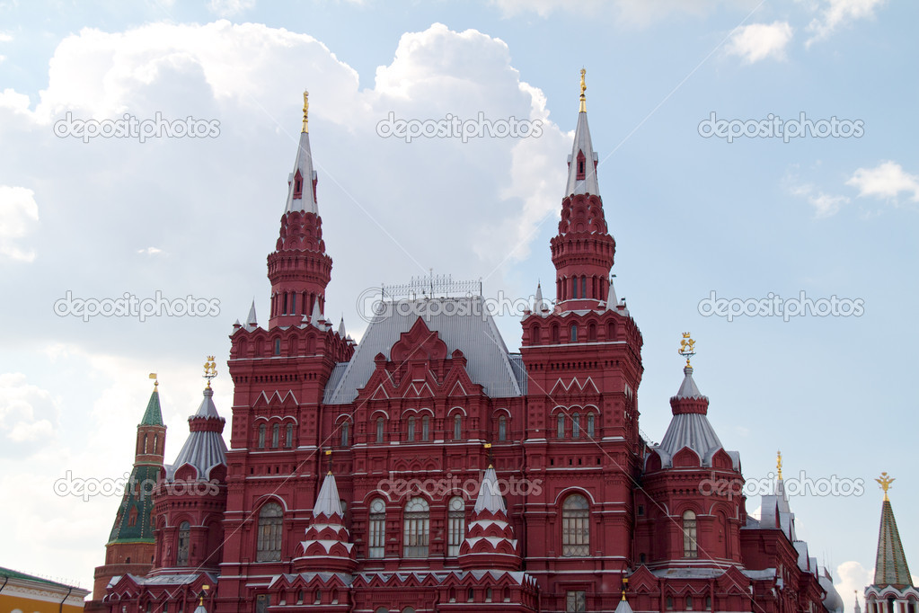 Historical Museum on the Red Square, Moscow, Russia — Stock Photo #6336703