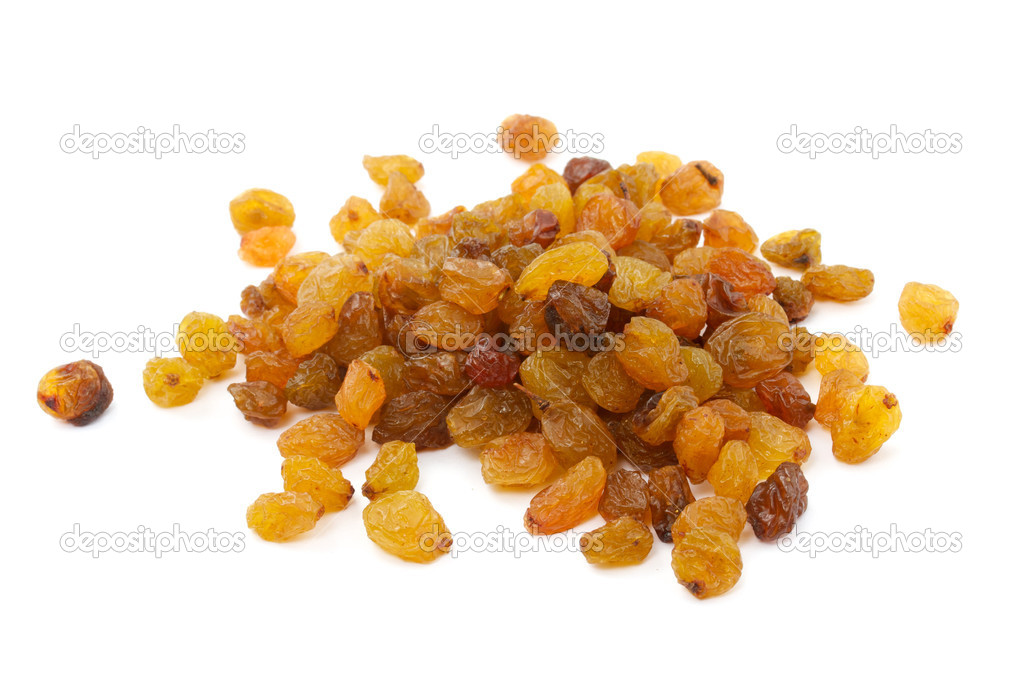 Raisins isolated on a white background  Stock Photo #6339859