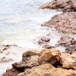 Waves on the Greek seashore — Stock Photo #6341479