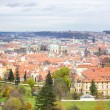 The View on the Prague's gothic Castle and Buildings - Stock Photo