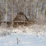 Winter village on coast — Stock Photo