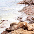 Waves on the Greek seashore — Stock Photo