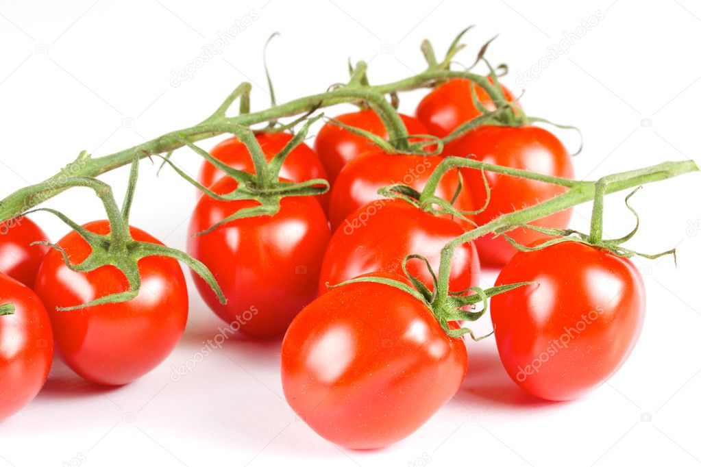 Cherry tomatoes isolated on a white background — Stock Photo #6340000