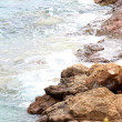 Waves on the Greek seashore — Stock Photo #6386621