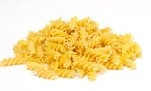 Close up of a dried italian pasta on white background — Stock Photo