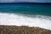 Pláž na ostrově samos, řecko — Stock fotografie