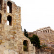 ncient theatre of herodes atticus is a small building of ancient — Stock Photo #6618660