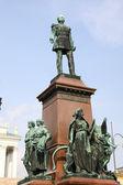Statue Alexander II in Helsinki Finland — Stock Photo