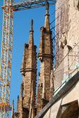 BARCELONA, SPAIN - May 23: La Sagrada Familia - the impressive c — Foto de Stock