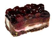 Chocolate Cake over white — Stock Photo