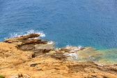 Mar hermoso paisaje griego — Foto de Stock