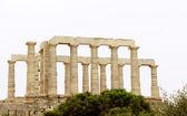 Храм Посейдона на мысе Сунион вблизи Афин, Греция — Стоковое фото