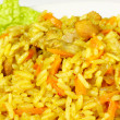 Stock Photo: Uzbek national dish - plov