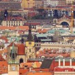 The View on the Prague&#039;s gothic Castle and Buildings - Stock Photo