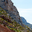 High mountain and Rocks in Greece Rhodes — Stock Photo