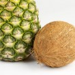 Pineapple and coconut — Stock Photo