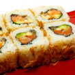 Japan trditional food isolated - rolls — Stock Photo #6624652