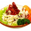 Delicious cooked octopus salad — Stock Photo