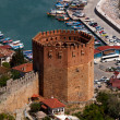 Kizil Kule (Red Tower), inTurkish city of Alanya — Stock Photo